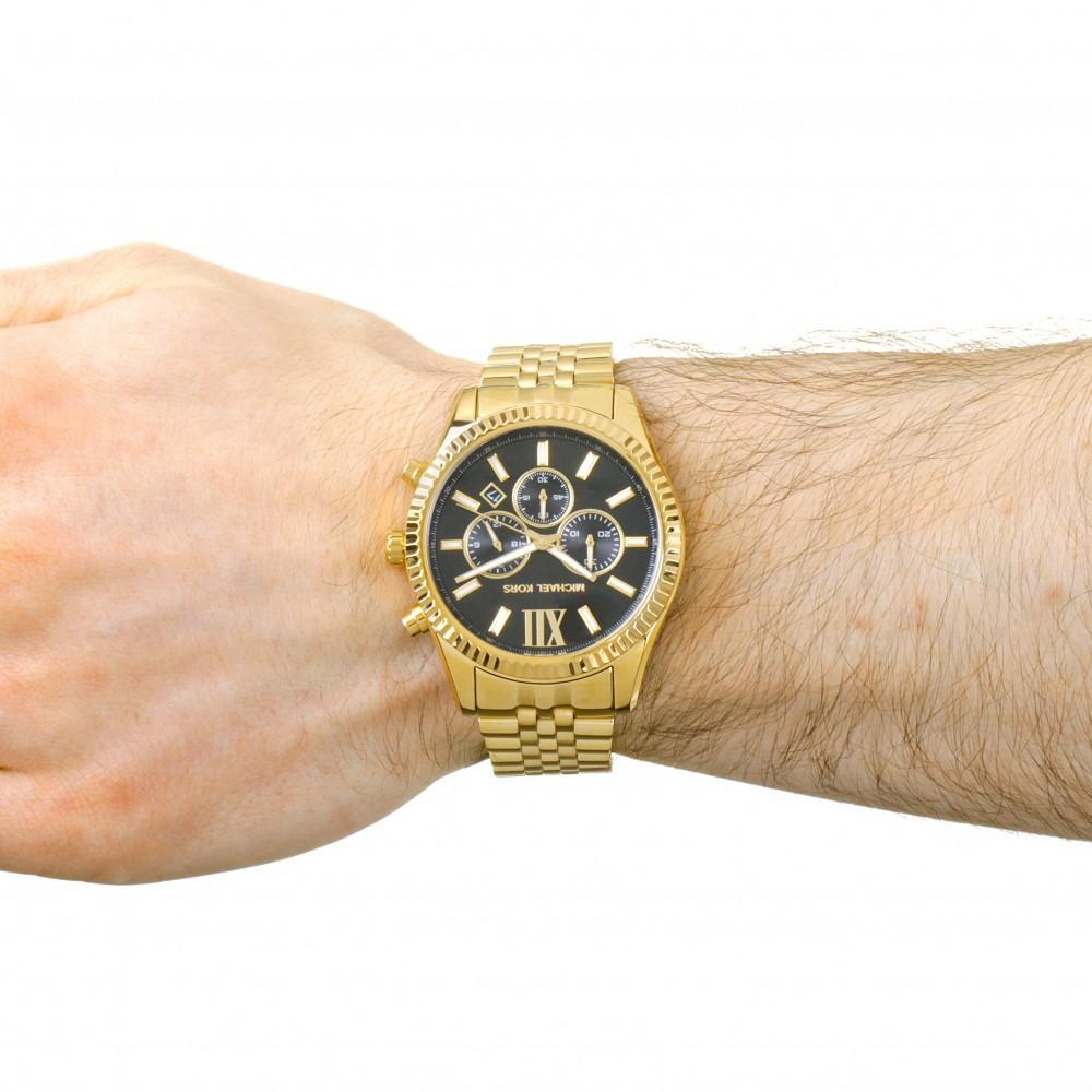 dd3ca65e05e6 Mens Michael Kors Lexington Chronograph Watch MK8286