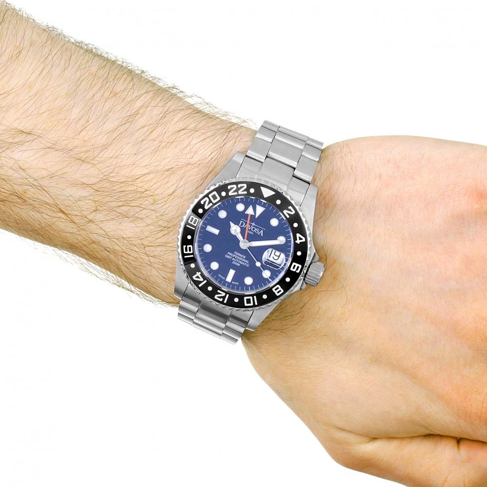 davosa gmt  Mens Davosa Ternos Professional TT GMT Automatic Watch 16157150