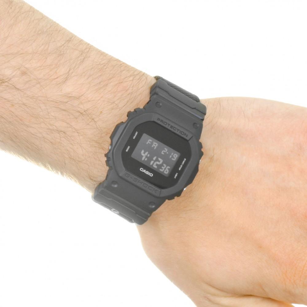 8f1acf27f940 Mens Casio G-Shock Blackout Cloth Series Alarm Chronograph Watch DW ...