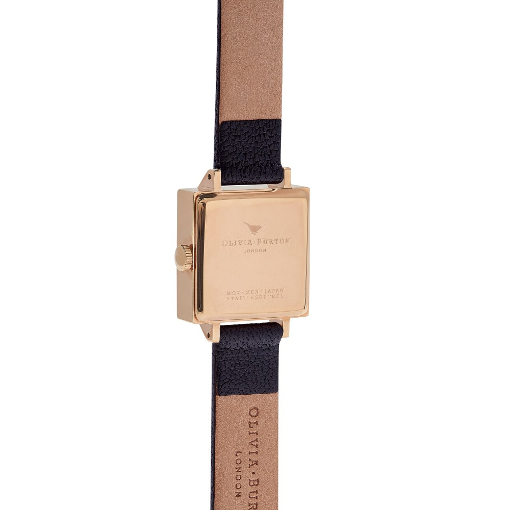 dd5274bc3bb Ladies Olivia Burton Vintage Bow Black & Rose Gold Watch OB16VB03