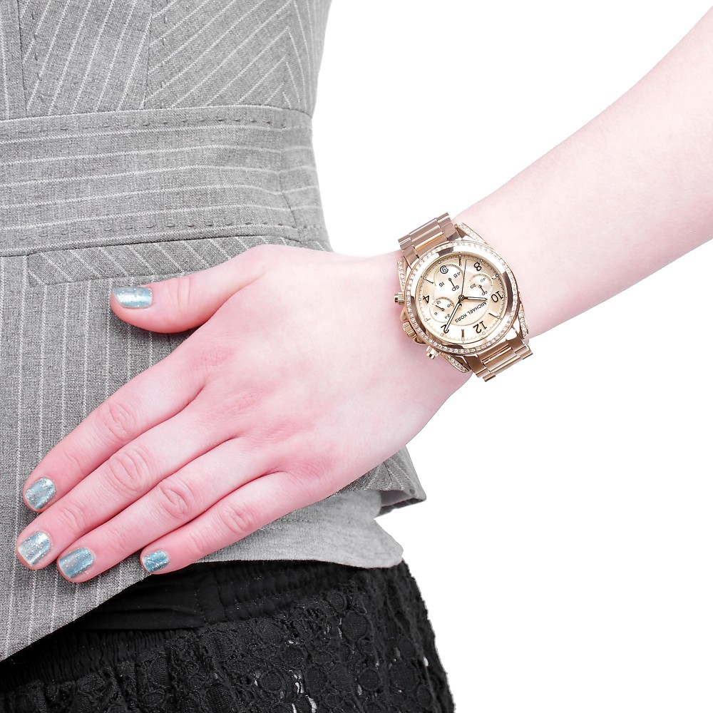 299d32a7718f Ladies Michael Kors Blair Chronograph Watch MK5166