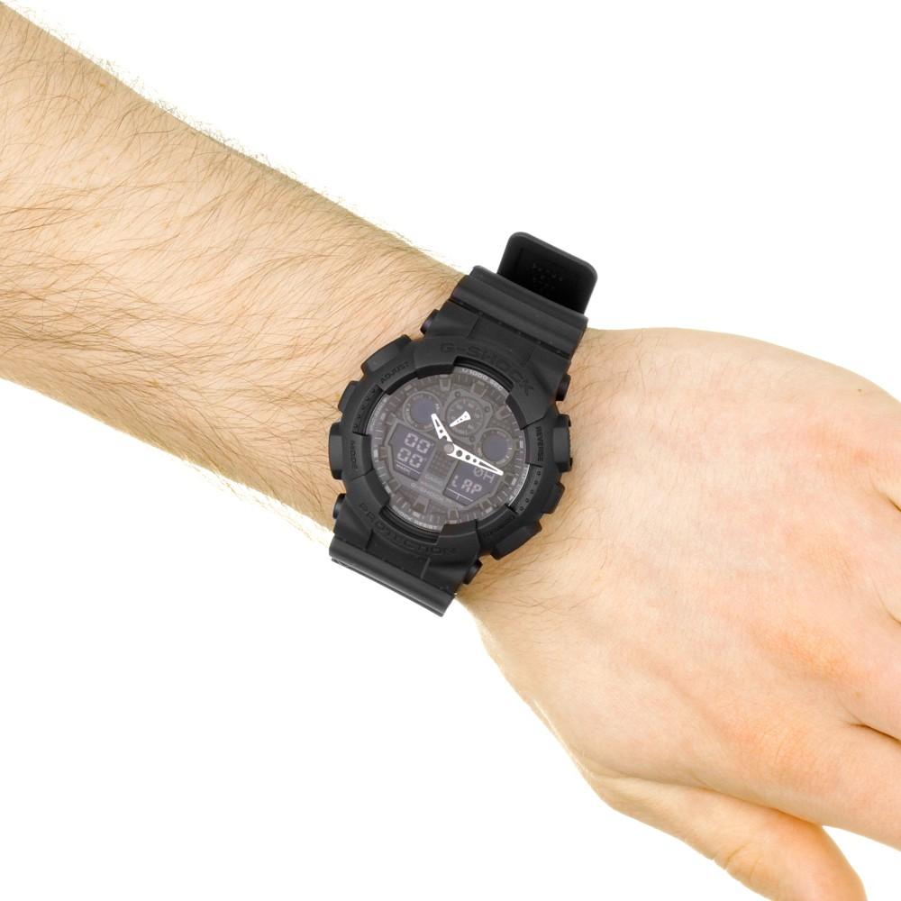 cb9684559c5a Mens Casio G-Shock Alarm Chronograph Watch GA-100-1A1ER