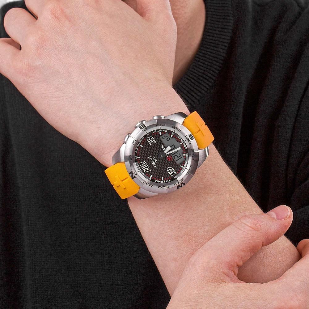 dc14aa44537 Mens Tissot T-Touch II Titanium Alarm Chronograph Watch T0474204720701