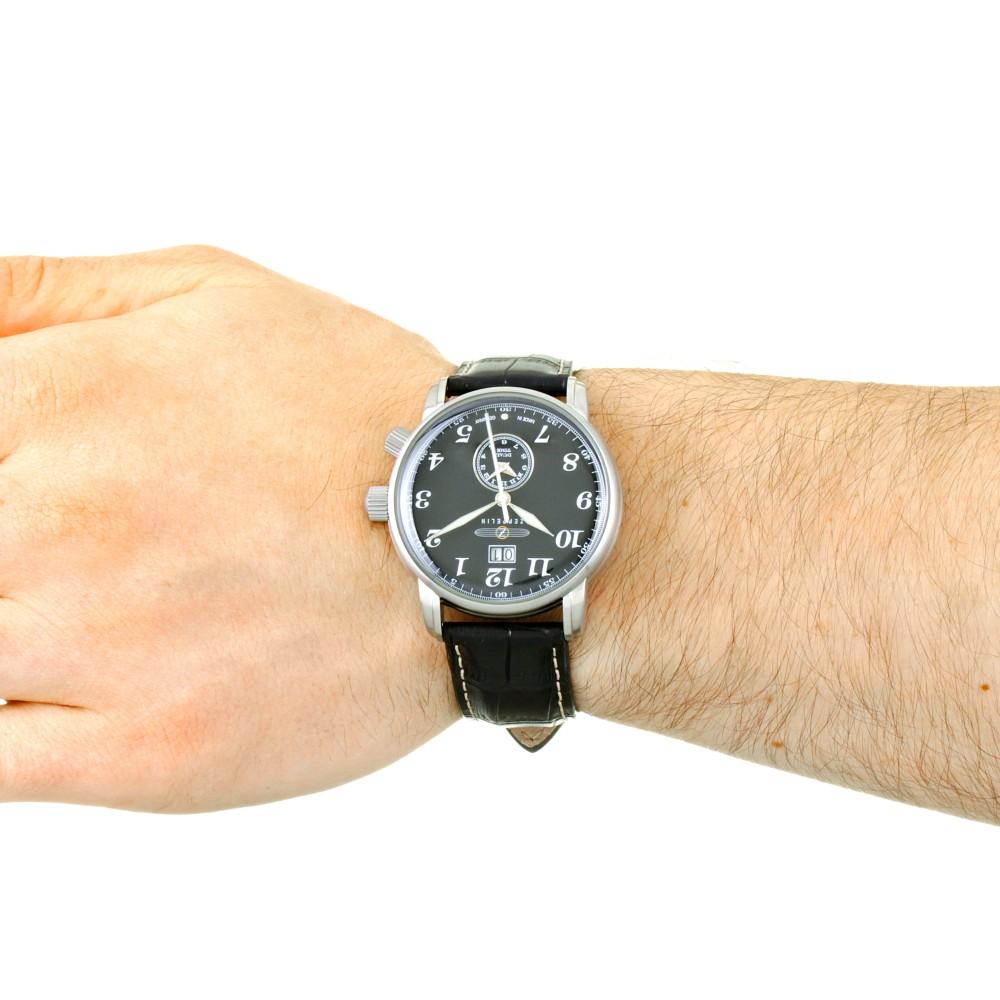 e747f3f976f Mens Zeppelin LZ127 Graf Zeppelin Dual Time Watch 7644-2
