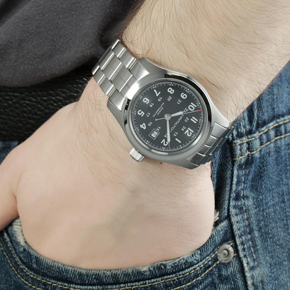 7ed8cb51e Mens Hamilton Khaki Field 42mm Automatic Watch H70515137