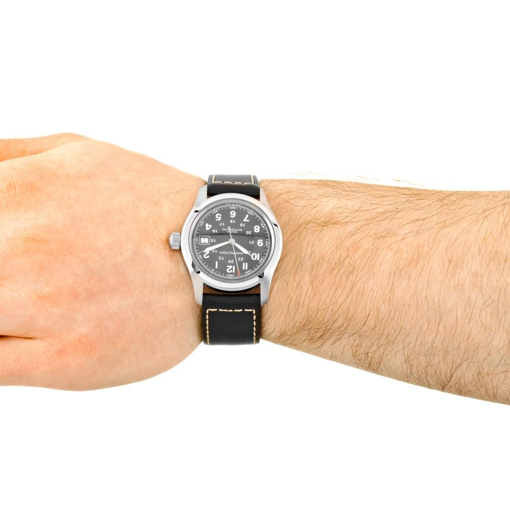 175a42437 Mens Hamilton Khaki Field 38mm Automatic Watch H70455733