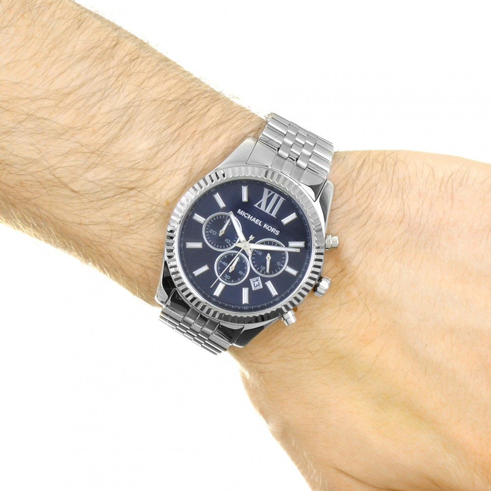 72d53af097b4 Mens Michael Kors Lexington Chronograph Watch MK8280