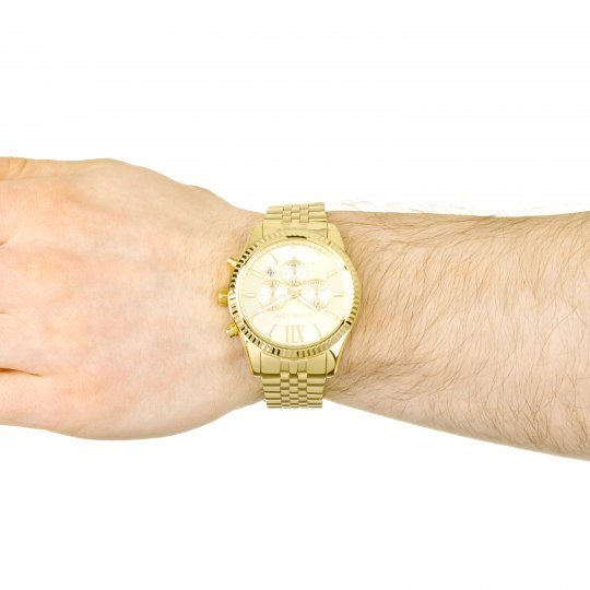 bdecfa4a6beb Mens Michael Kors Lexington Chronograph Watch MK8281