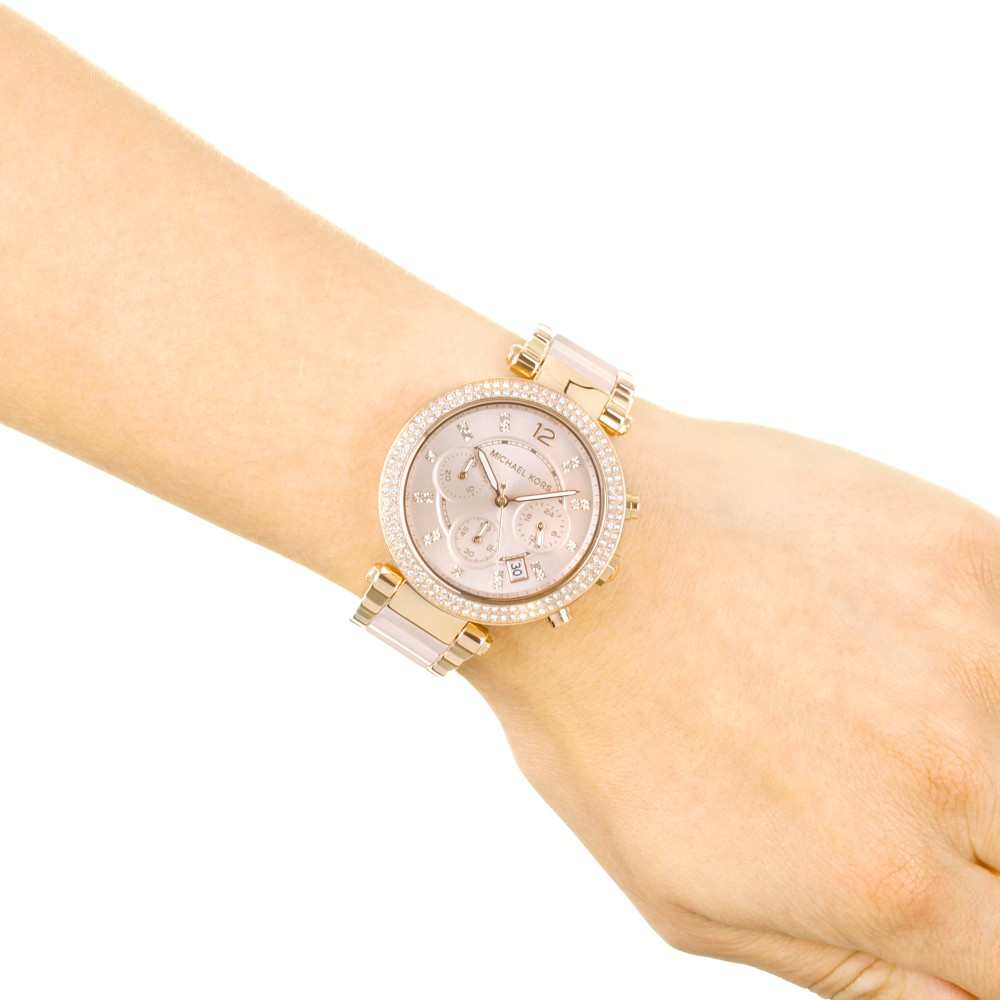 72cb51d91ee8 Ladies Michael Kors Parker Chronograph Watch MK5896
