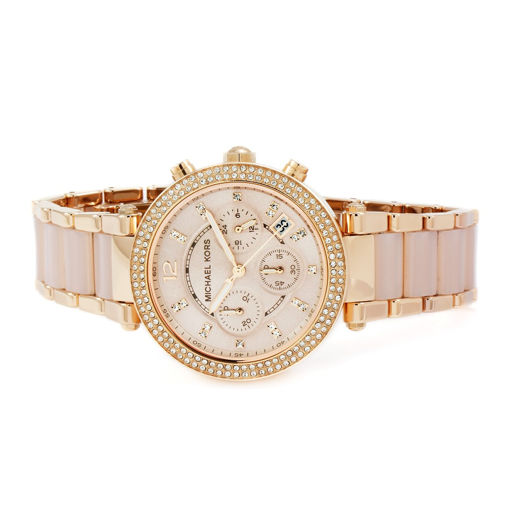 90305f6a593f Ladies Michael Kors Parker Chronograph Watch MK5896