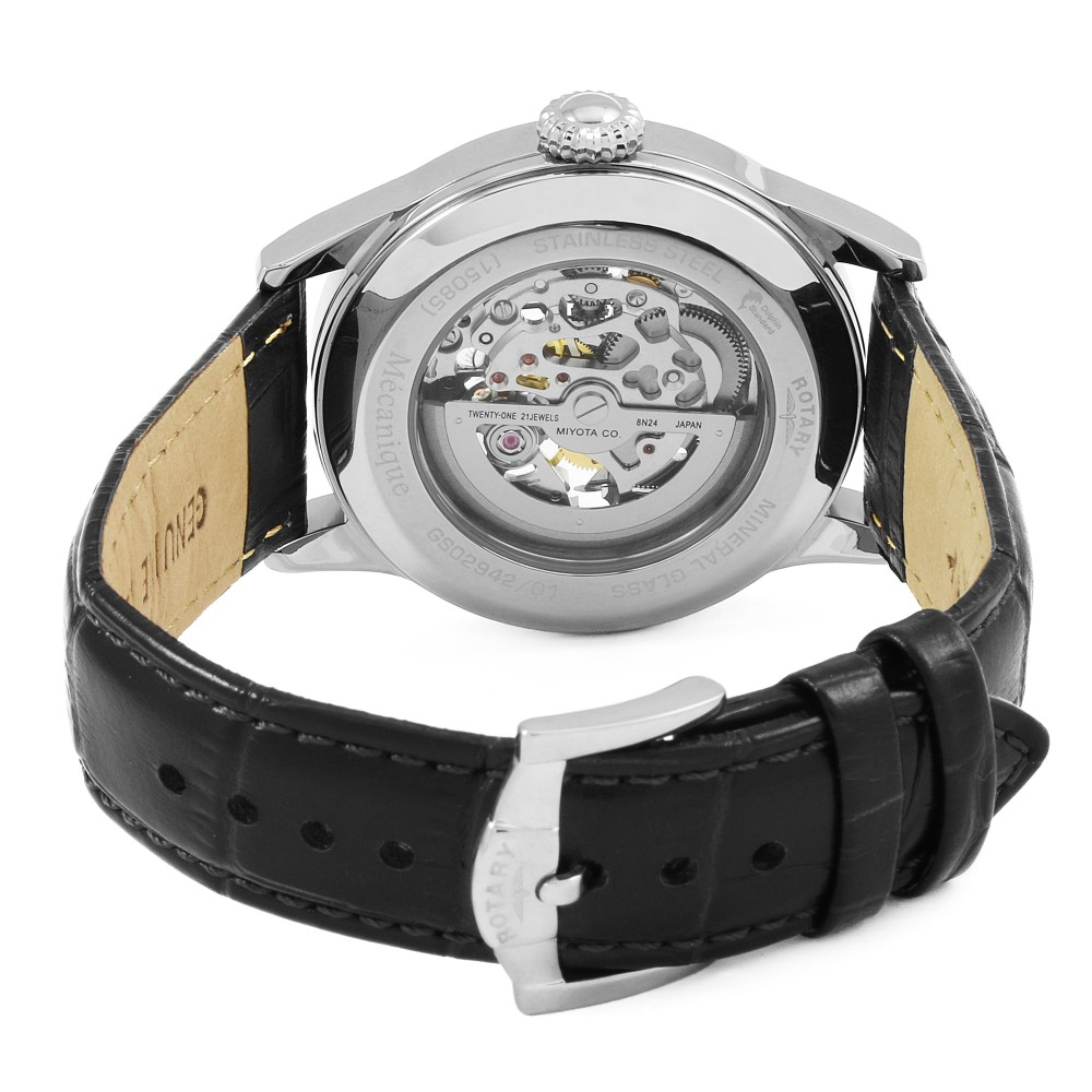 226c67e7a462 Mens Rotary Greenwich Skeleton Automatic Watch GS02940 06