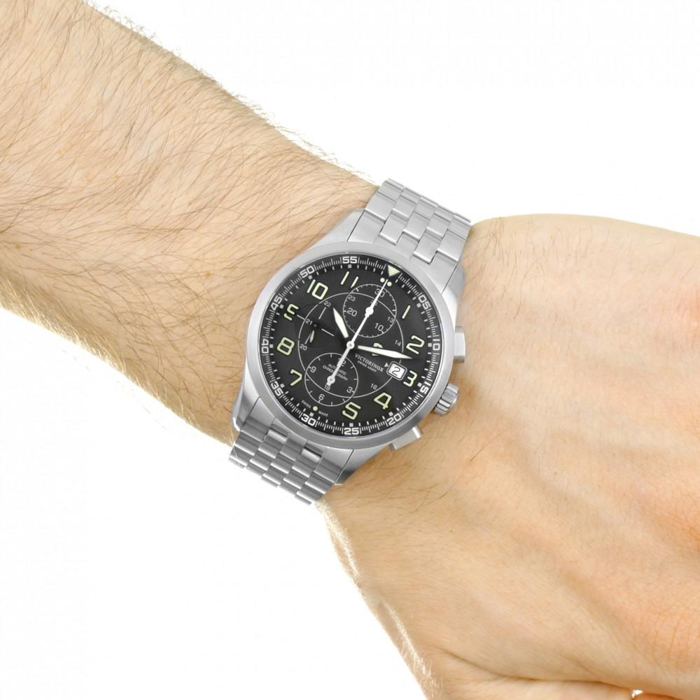 a886a1e47b9 Mens Victorinox Swiss Army Airboss Automatic Chronograph Watch 241620