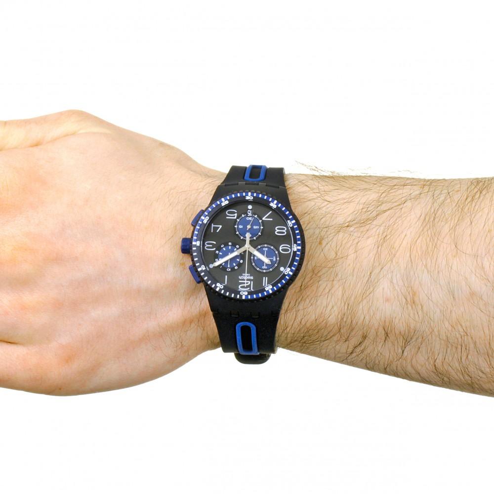 Susb406 Kaicco Swatch Chronograph Watch Mens 35RjLA4