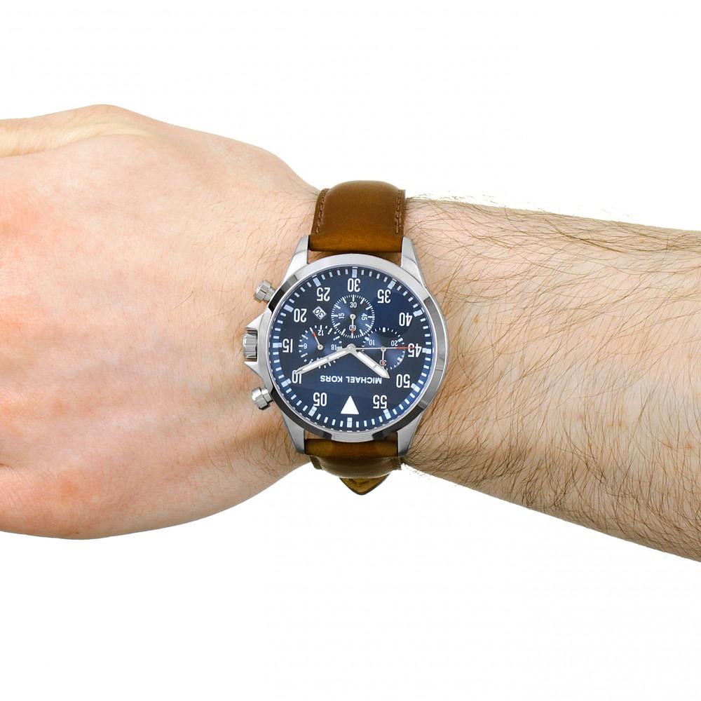 e2404a89d Mens Michael Kors Gage Chronograph Watch MK8362