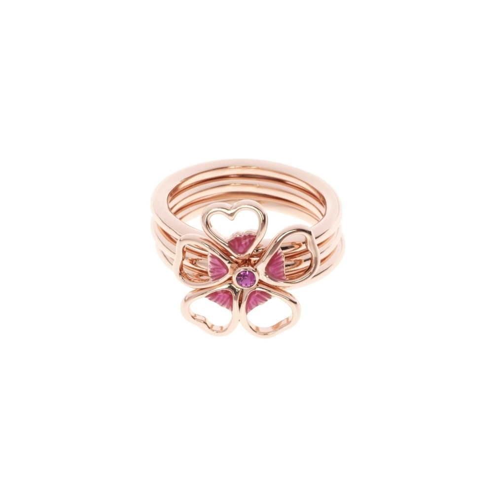 9ddcd1515d6395 Ladies Ted Baker Rose Gold Plated Leotie Enamel Flower Stacking ...