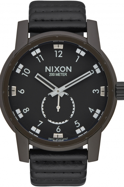 Image of  			   			  			   			  Mens Nixon The Patriot Leather Watch A938-2138