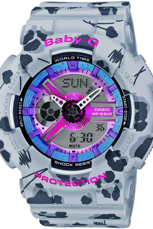 Image of  			   			  			   			  Casio Baby-G Flowers WATCH BA-110FL-8AER