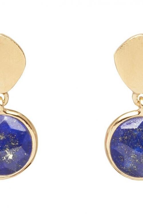 Lola Rose Jewellery Lapis Lazuli Nerio Disc Earrings JEWEL 583060