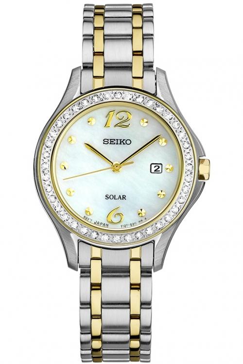 Image of            Ladies Seiko Dress Solar Powered Watch SUT312P9