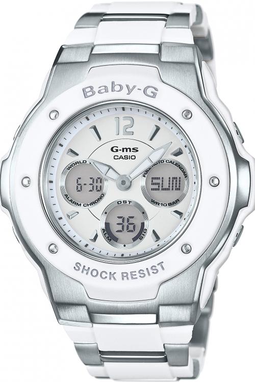 Image of            Ladies Casio Baby-G Alarm Chronograph Watch MSG-300C-7B3ER