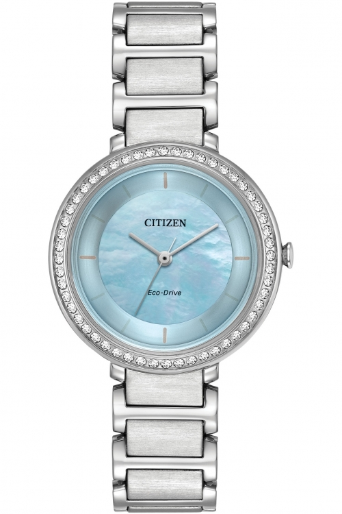 Image of  			   			  			   			  Ladies Citizen Silhouette Crystal Watch EM0480-52N