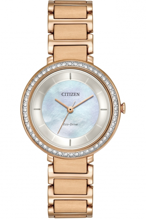 Image of  			   			  			   			  Ladies Citizen Silhouette Crystal Watch EM0483-54D