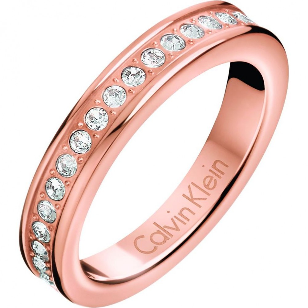 Ladies Calvin Klein Rose Gold Plated Size N Hook Ring KJ06PR140107