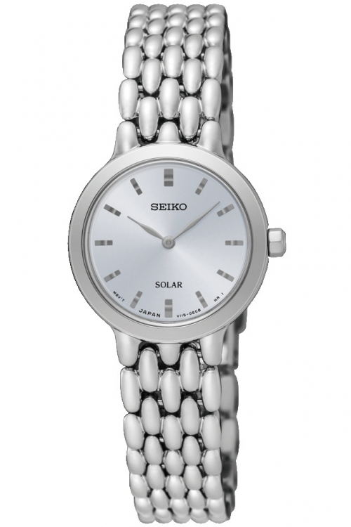 Image of  			   			  			   			  Ladies Seiko Dress Solar Powered Watch SUP347P1