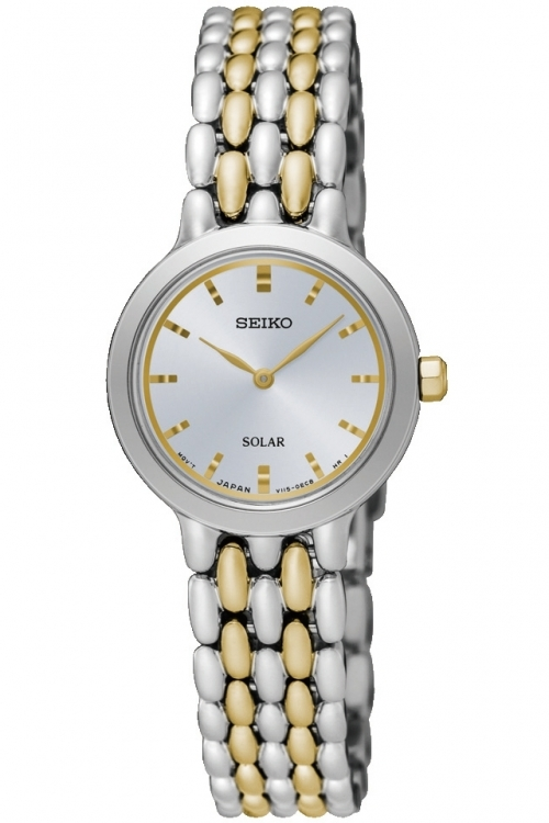 Image of  			   			  			   			  Ladies Seiko Dress Solar Powered Watch SUP349P1