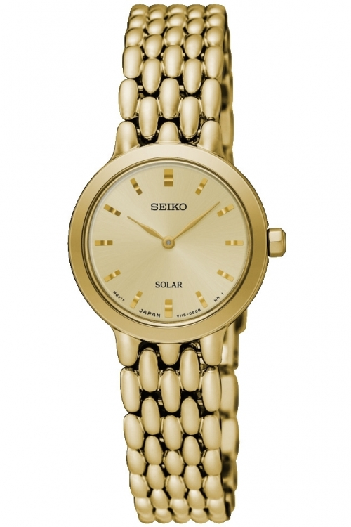 Image of  			   			  			   			  Ladies Seiko Dress Solar Powered Watch SUP352P1
