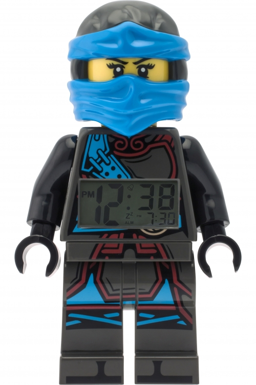 Childrens LEGO Ninjago Time Twins Nya Minifigure Alarm Clock 9009303