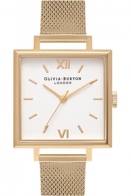 Image of            Ladies Olivia Burton Big Dial Square Dials Watch OB16SS11