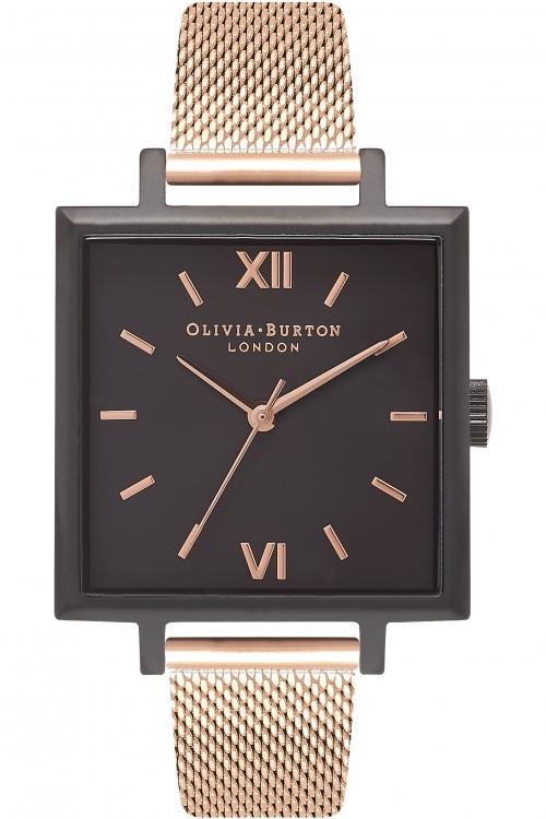 Image of Ladies Olivia Burton Big Dial Square Dials Watch OB16SS13