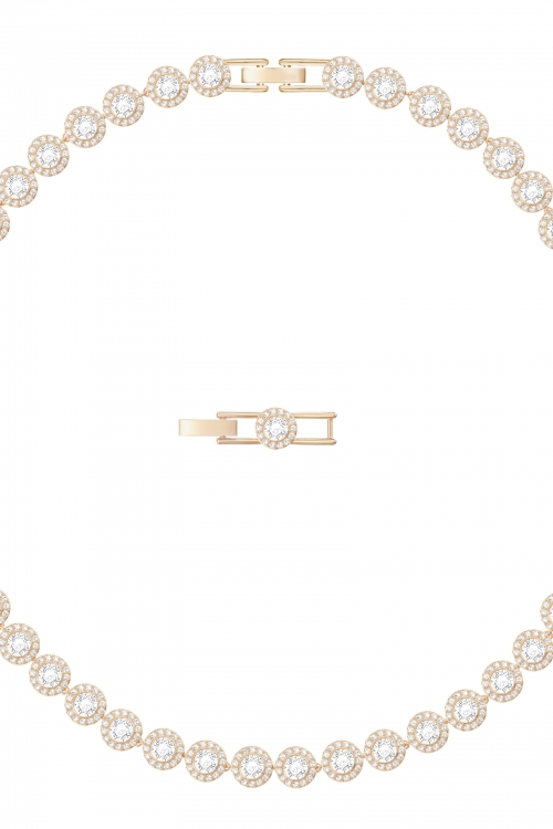Image of            Ladies Swarovski Gold Plated Angelic Necklace 5367845