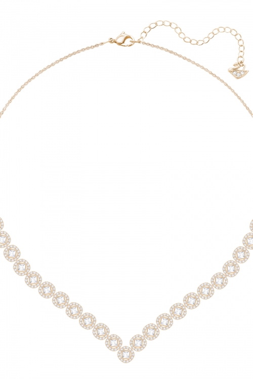 Image of            Ladies Swarovski Gold Plated Angelic Necklace 5351308