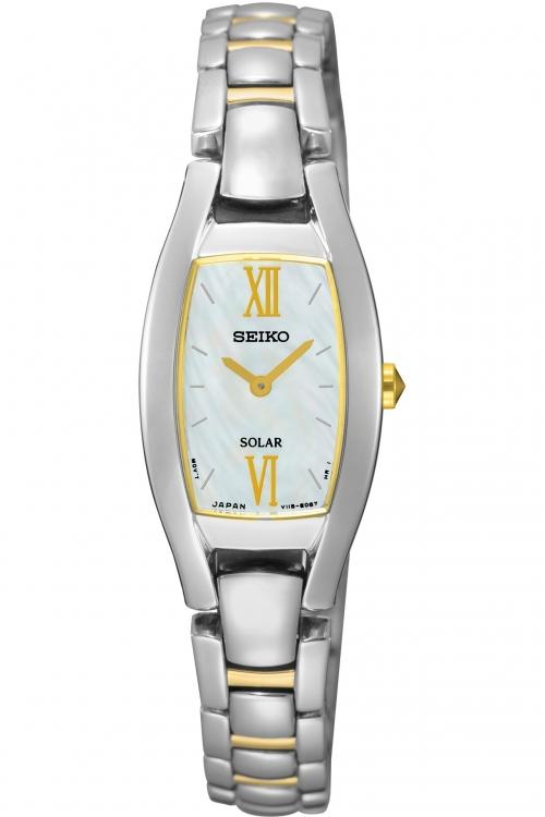 Image of            Ladies Seiko Dress Solar Solar Powered Watch SUP312P1