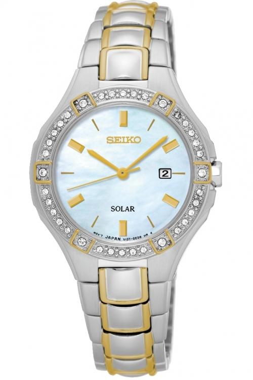 Image of            Ladies Seiko Dress Solar Solar Powered Watch SUT282P9