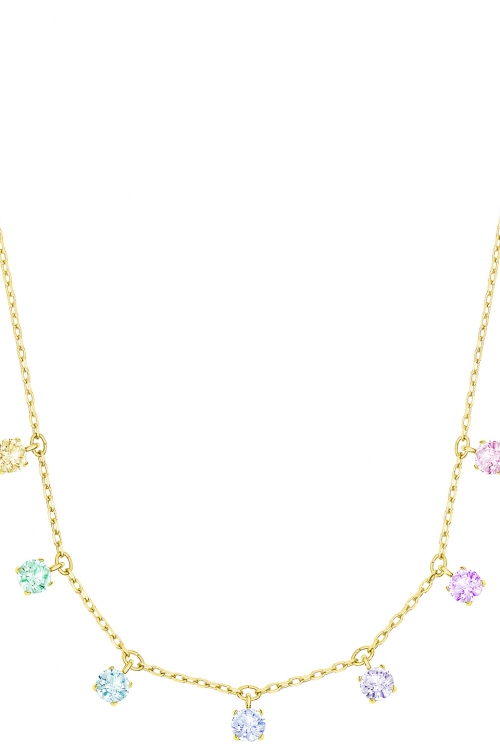 Image of            Ladies Swarovski Gold Plated Attract Necklace 5384392
