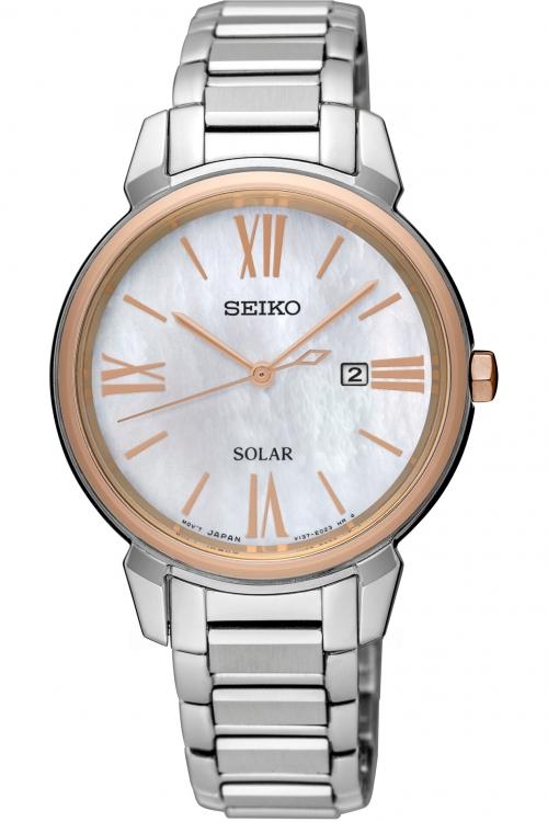 Image of            Ladies Seiko Dress Solar Solar Powered Watch SUT326P1