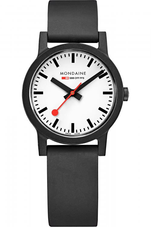 Image of            Ladies Mondaine Swiss Railways Essence 32mm Watch MS1.32110.RB