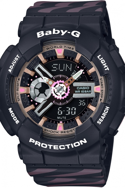 Image of            Casio Baby G Chance Alarm Chronograph Watch BA-110CH-1AER