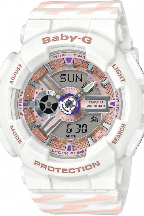 Image of            Casio Baby G Chance Alarm Chronograph Watch BA-110CH-7AER