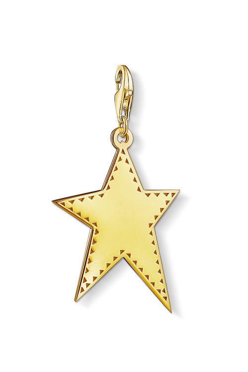 Image of  			   			  			   			  Ladies Thomas Sabo Gold Plated Sterling Silver Charm Club Golden Star Charm Y0040-413-39