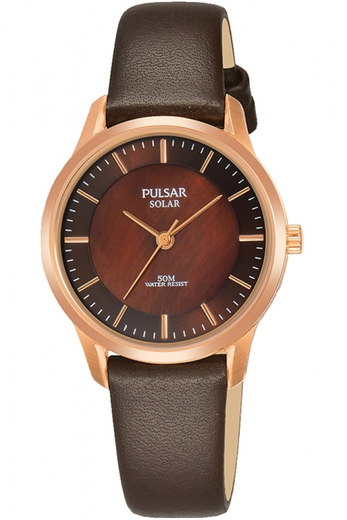 Image of  			   			  			   			  Ladies Pulsar Solar Powered Watch PY5044X1