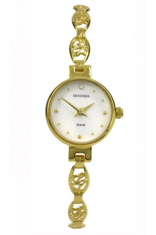 Image of            Ladies Sekonda 9ct Gold Watch 4652