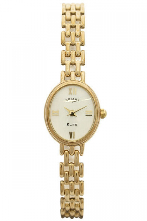 Image of  			   			  			   			  Ladies Rotary 9ct Gold Watch LB10161/07