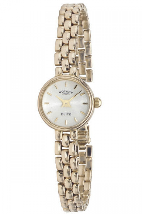 Image of  			   			  			   			  Ladies Rotary 9ct Gold Watch LB10206/08