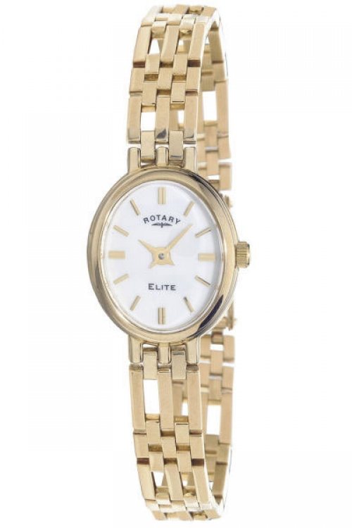 Image of  			   			  			   			  Ladies Rotary 9ct Gold Watch LB10090/02
