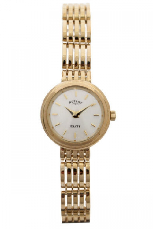 Image of  			   			  			   			  Ladies Rotary 9ct Gold Watch LB10158/07