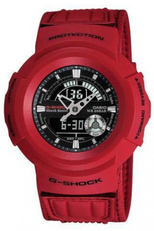 Image of            Mens Casio G-Shock Alarm Chronograph Watch AW-582B-4ADR
